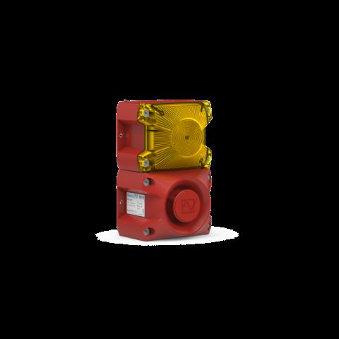 Flashing Sounder PA X 1-05 yellow,5J,230Vac,105dB,IP66,RAL3000