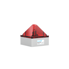 Flashing Light QUADRO S-M-FLEX red,230Vac,13J,IP66/67
