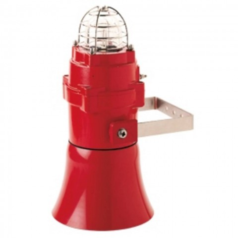 Flashing Sounder BExCS 110-05D ATEX red 5J,230Vac,110dB,IP67