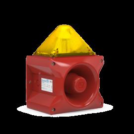 Flashing Sounder PA X 10-10 yellow 10J,230Vac,117dB,IP66,RAL3000