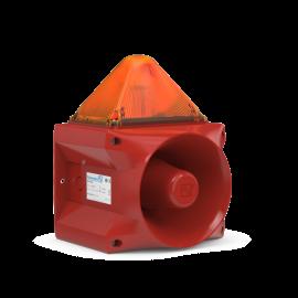 Flashing Sounder PA X 20-15 amber 15J,230Vac,122dB,IP66,RAL3000