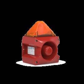 Flashing Sounder PA X 5-05 amber 5J,230Vac,107dB,IP66,RAL3000