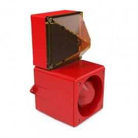 Flashing Sounder DSF 5 red,230Vac,105dB,IP66/67,RAL3000